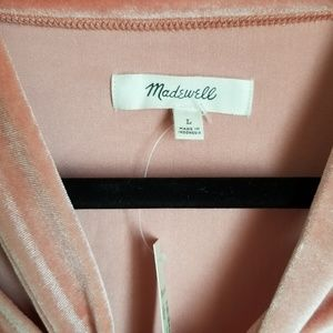 Madewell Tops - NWT Madewell Coral Velvet Tie at Neck Size Large